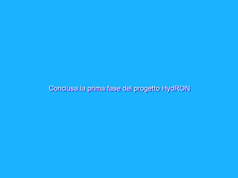 Conclusa la prima fase del progetto HydRON dell'ESA
