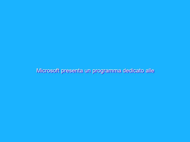 Microsoft presenta un programma dedicato alle startup gaming
